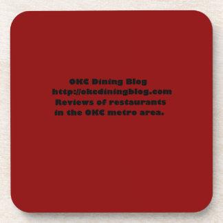 OKCdiningblog.com design 2 Drink Coasters
