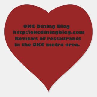 OKCdiningblog.com design 2 Heart Sticker