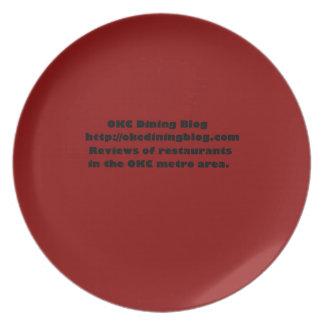 OKCdiningblog.com design 2 Melamine Plate