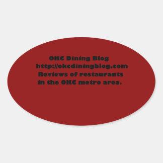 OKCdiningblog.com design 2 Oval Sticker