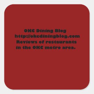 OKCdiningblog.com design 2 Square Sticker