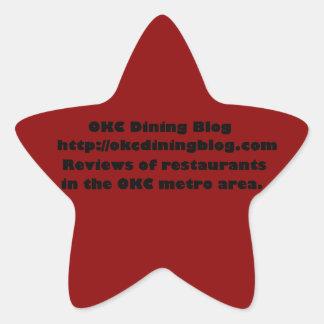 OKCdiningblog.com design 2 Star Sticker