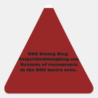 OKCdiningblog.com design 2 Triangle Sticker