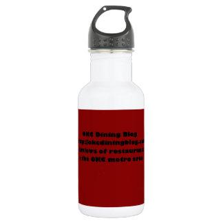 OKCdiningblog.com design 2 Water Bottle