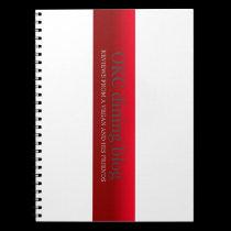 OKCdiningblog.com design 3 Spiral Notebook