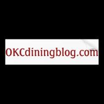 OKCdiningblog.com no fluff Bumper Sticker
