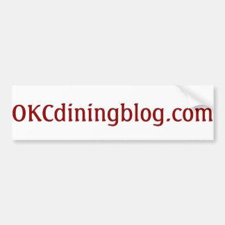 OKCdiningblog.com no fluff Car Bumper Sticker