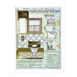 Okeanos Closets from a catalogue of sanitary wares Postcard