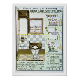 Okeanos Closets from a catalogue of sanitary wares Poster