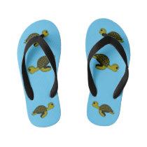 Okeanous the turtle kid's flip flops