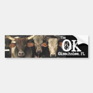 Okechobee Florida The OK Beef Cattle Cows Sticker Car Bumper Sticker