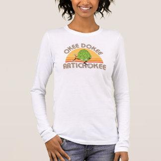 OkeeDokeeArtichokee Women's long sleeve white T Long Sleeve T-Shirt