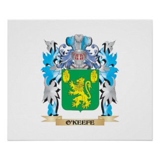 O'Keefe Coat of Arms - Family Crest Poster