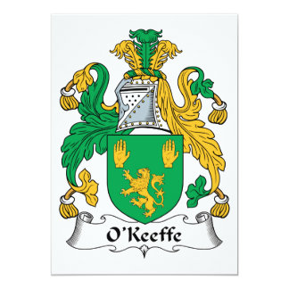 O'Keefe Family Crest Invite