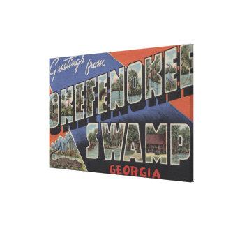 Okefenokee Swamp, Georgia - Large Letter Scenes Canvas Print