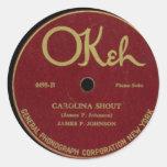 """Okeh"" Vintage Phonograph History Record Sticker"