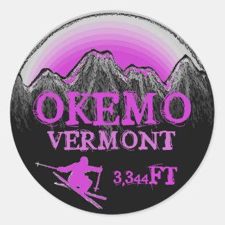Okemo Vermont purple ski art elevation stickers