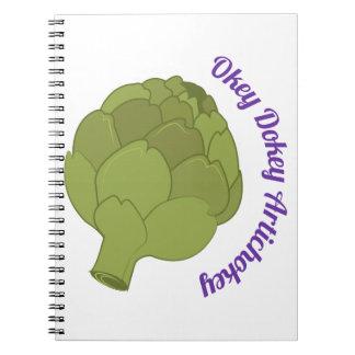 Okey Dokey Artichokey Spiral Notebooks