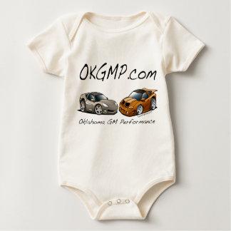 OKGMP Silver and Orange Car Baby Creeper