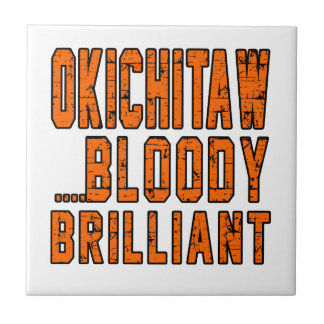 Okichitaw Bloody brilliant Small Square Tile
