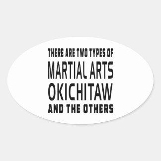 Okichitaw Martial Arts Designs Oval Stickers