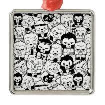 Okiiyo Black Pattern Metal Ornament