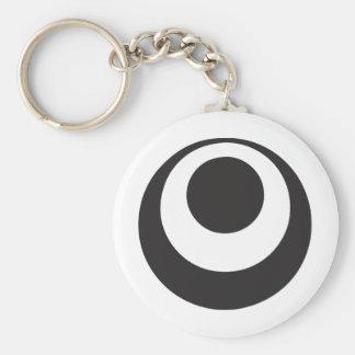 Okinawa Basic Round Button Keychain