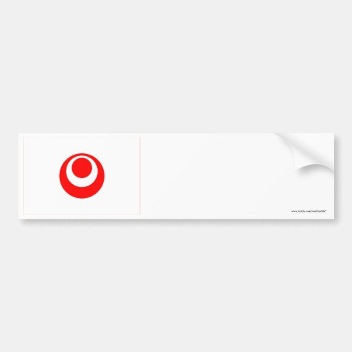 Okinawa Prefecture Flag Car Bumper Sticker