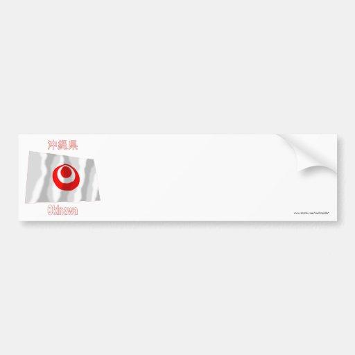 Okinawa Prefecture Waving Flag Car Bumper Sticker