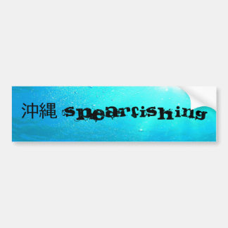 Okinawa Spearfishing Bumper Sticker