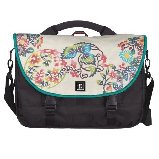 Okinawan Bingata Textile big Laptop Computer Bag