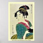 Okita del ya por Kitagawa, Utamaro Ukiyoe de Naniw Impresiones