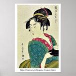 Okita del ya por Kitagawa, Utamaro Ukiyoe de Naniw Posters