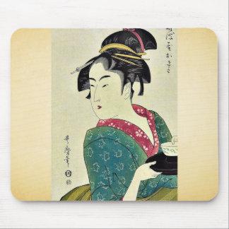 Okita of Naniwa ya by Kitagawa Utamaro Ukiyoe Mousepads