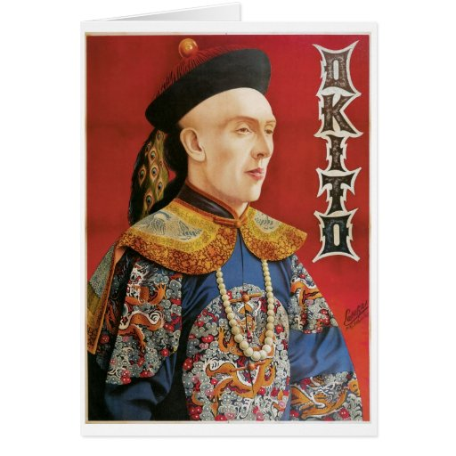 Okito ~ Oriental Magician Vintage Magic Act Card