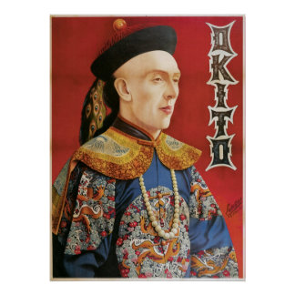 Okito ~ Oriental Magician Vintage Magic Act Poster