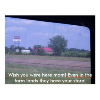 ¡OKLAHOMA 093 desea que usted estuviera aquí mamá Postales