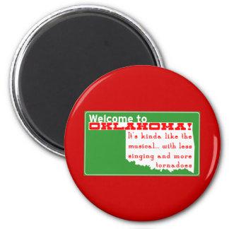 Oklahoma 2 Inch Round Magnet