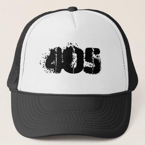 Oklahoma 405 area code trucker hat