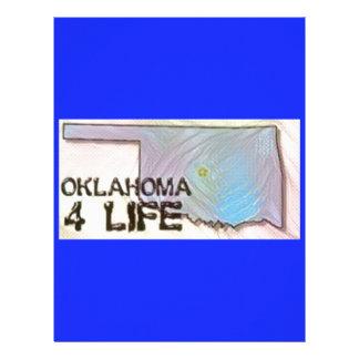 """Oklahoma 4 Life"" State Map Pride Design Letterhead"