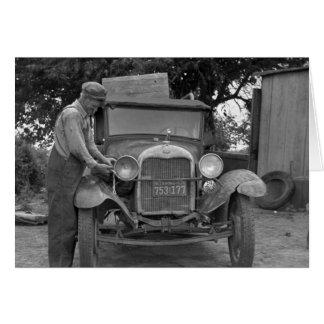 Oklahoma a California, los años 30 Tarjeta De Felicitación
