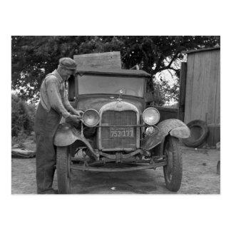 Oklahoma a California, los años 30 Tarjeta Postal