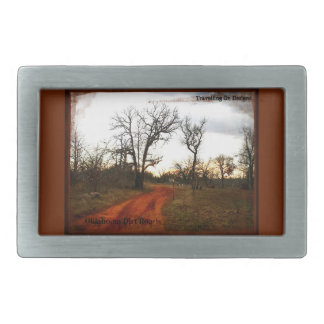 Oklahoma Back Roads Rectangular Belt Buckle