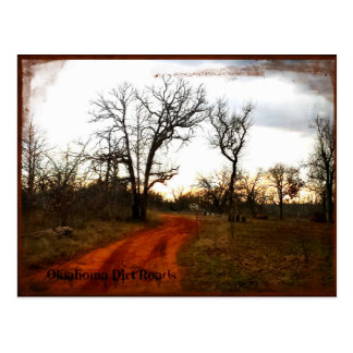 Oklahoma Back Roads Postcard