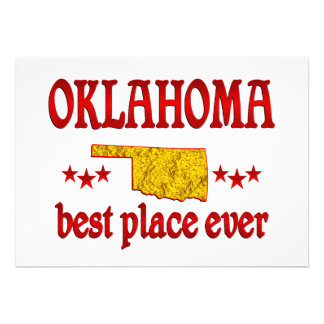 Oklahoma Best Personalized Announcement