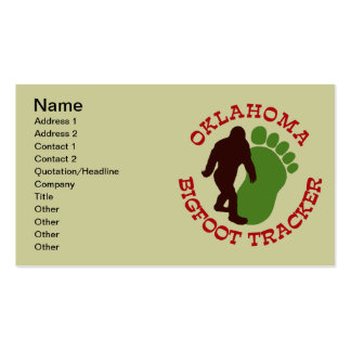 Oklahoma Bigfoot Tracker Double-Sided Standard Business Cards (Pack Of 100)