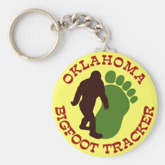 Oklahoma Bigfoot Tracker Keychain