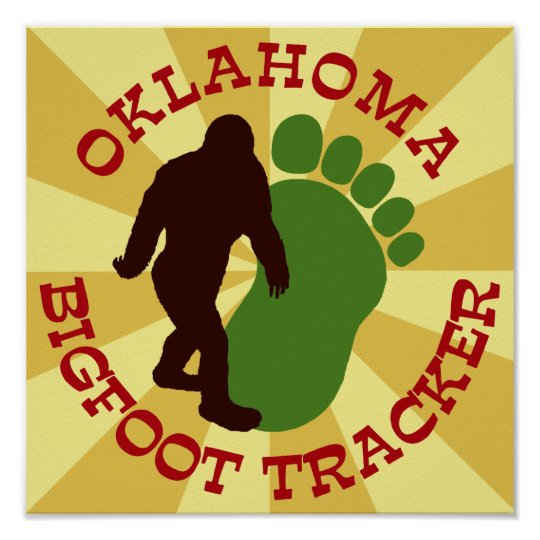 Oklahoma Bigfoot Tracker Poster