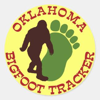 Oklahoma Bigfoot Tracker Classic Round Sticker