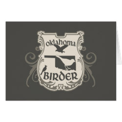 Greeting Card with Oklahoma Birder design